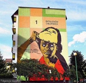 antiracism mural, Poland, Bialystok 2013