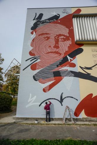 street art, Bologna, Chekos'art, Antonio Gramsci