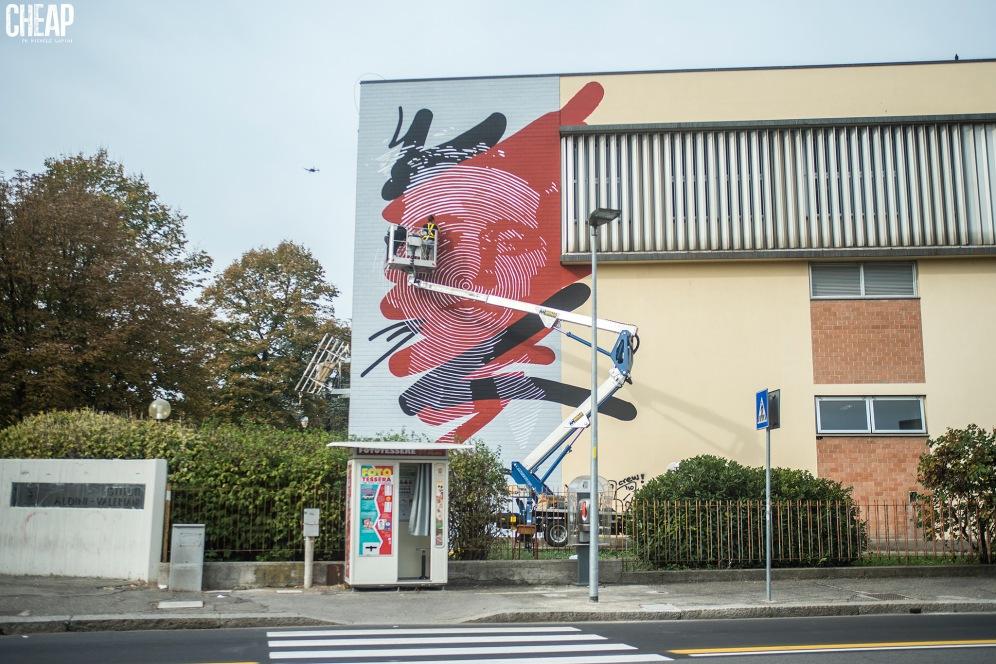 Chekos'art & CHEAP, un murale per Antonio Gramsci