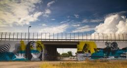 """chekos art e il suo murales """"Campagna Salentina"""""""
